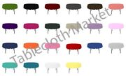 12 Pack 108 Inch Round Polyester Tablecloth 24 Color Table Cover Wedding Party