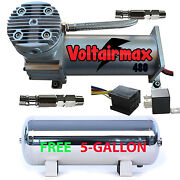 V 480c Air Compressor Ride 200psi Rated W/ Free 5 Gal Stainless Air Tank