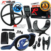 Xp Deus Metal Detector W/ Fx-02 Wired Backphone Remote And 11andrdquo X35 Search Coil