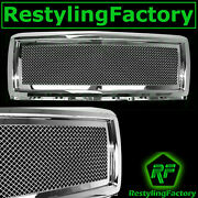 14-15 Chevy Silverado 1500 Chrome Mesh Grille Complete Full Replacement Shell