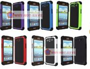 Dual Layer Premium Hybrid Deluxe Hard Case Cover For Samsung Galaxy S3 Siii Usa