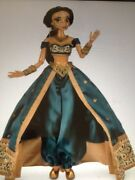 Jasmine 17 Limited Edition Le 5000 Doll In Hand New Disney Store Exc Teal Dre
