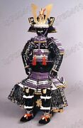 Japanese Iron And Silk Knotted Wearable Rüstung Samurai Armor Suit White 012