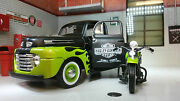 Lgb 124 Scale Maisto 32171g 1948 Ford F1 And Harley Davidson Diecast Model Truck