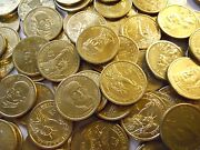 Lot Of 250 In Circulated Gold Presidential Dollars. 2007-2011 Most Denver