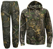 New Jungle Fishing/hunting Camouflage Camo Suit - Zip Hoody + Trousers M - 5xl