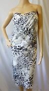 Authentic Travis Walker For Glamour Campaign White Leopard Print Dress, Size S
