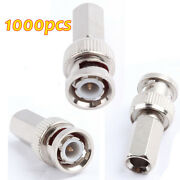 1000pcs Super Twist-on Type Bnc Male Rg59 Connectors For Cctv Cameras Re-usable