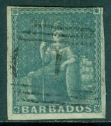Barbados 1852-55. Stanley Gibbons 4a Grey Slate. Vf, Used. Scarce. Cat £1,200