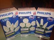 Philips Led Christmas Lights Faceted White Lot Of 3