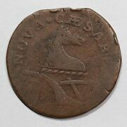 1788 M 66-v New Jersey Cent Colonial Copper Coin