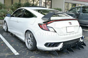Fit 16-up Honda Civic Coupe Jdm Type R Style Abs Plastic Rear Trunk Spoiler
