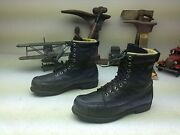 Vintage Made In Usa Browning Green Leather Lace Up Trail Hike Packer Boots 7 C