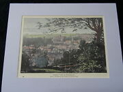C1895 Hand Coloured And Mounted Print/engraving Of View Of Winchester