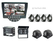 Quad Rear View Backup Camera System With 7monitor And Four Ccd 700tvl Ir Cameras