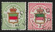 Helgoland Stamps 1876 Mi 17-18 Canc Vf
