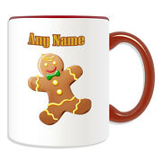 Personalised Gift Gingerbread Man Mug Money Box Cup Fairy Tale Name Ginger Bread