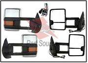 07-13 Silverado Towing Power Heated Chrome Mirrors Led Signal And Clearance Lamps