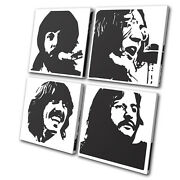 Beatles Music British Band Musical Multi Canvas Wall Art Picture Print