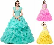 Prom Gowns Quinceanera Formal Dressses Evening Wedding Party Sweet 16 Dress