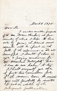 3-page Autograph Letter Signed By The Positivist David Goodman Croly To J. Fiske