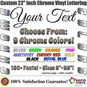22 Inch Custom Chrome Letters Numbers Decal Sticker Vinyl Boat Car Truck Window