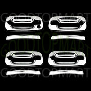 For Gmc Sierra 99-06 Chrome 4 Doors Handles Covers W/out Passenger Keyhole