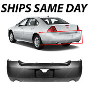 New Primered - Rear Bumper Cover Replacement For 2006-2013 Chevy Impala W/ Dual