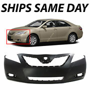 New Primered - Front Bumper Fascia For Replacement 2007-2009 Toyota Camry Hybrid