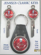 Oldsmobile B-10 Cutlass Supreme Red Deluxe Classic White Gold Key Set 1965 1966