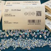 ® Crystal Bicone Beads 5328 Crystal Ab - Choose 72 Pc Or Factory Pack