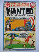 5 Vintage Old Collectible Dc Comics Wanted 2356and 9 Fnvf