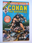 2 Vintage Collectible Marvel Comic Books Conan King Sie And Giant Size 1 Both Vf+