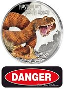 Tuvalu 2016 1 Deadly And Dangerous Death Adder 1 Oz Silver Proof Coin