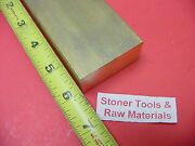 1 X 2 C360 Brass Flat Bar 6 Long Solid 1.00 Plate New Mill Stock H02
