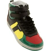 99.99 Creative Recreation Womens Dicoco Red / Yellow / Green Patent Wcr3938-r