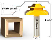45 Degree - Up To 3/4 Stock Lock Miter Router Bit - 1/2 Shank - Yonico 15127