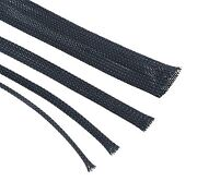 Black Braided Cable Sleeving - Expandable Wire Harness Marine Auto Sheathing