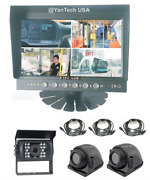 7 Quad Rear View Backup Camera System + 3 Ccd 700tvl Infrared Cameras + Cables