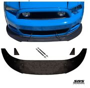 Front Splitter +2 Support Rods And 2 Winglets For 2013-2014 V6 And Gt Ford Mustangs