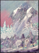 Earl Biss Storm On Thunder Mountain Serigraph On Paper Hand Signed 1996