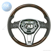 Oem Mercedes-benz Cls550 250 E350 E400 E550 Walnut Wood And Leather Steering Wheel