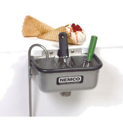 Nemco 77316-10 10 3/8 Ice Cream Dipper Well And Faucet Set