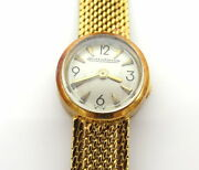 Vintage Jaeger Lecoultre Miniature Back Wind 18k Yellow Gold Ladyand039s Watch