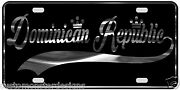 Dominican Republic License Plate All Mirror Plate And Chrome And Regular Vinyl