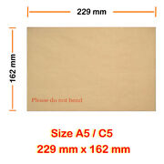 Hard Board Back Envelopes C5 229mm X 162mm Cheapest - 600 Gsm Board For A5 Size