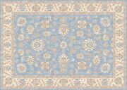Hand Finished Loom Antique Oushak Wool Oriental Area Rug 2and03962and039and039x4and03959andrsquo/ashblue800
