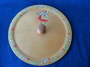 Vintage Wood Serving Tray Hand Painted Platter Dutch By Woodcroftery Toothpick