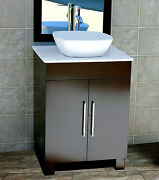 24 Bathroom Vanity 24-inch Cabinet Whitetop Sink Faucet Cms7068