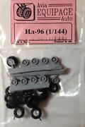 Eqg144003 Equipage 1/144 Rubber Wheels For Ilyushin Il-96 Russian Widebody Jet